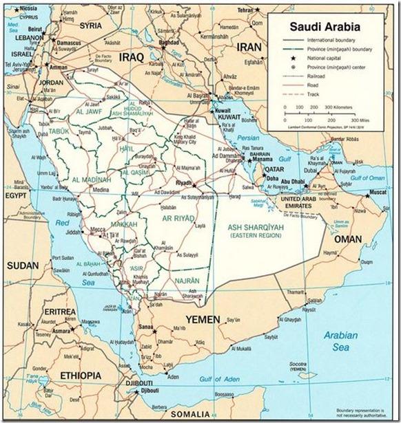 KSA map