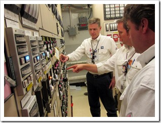 TVA engineers monitor hot test results at watts bar 2