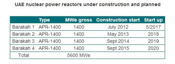 wna UAE reactors