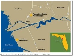 map Levy County nuclear plant