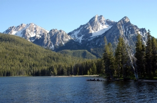 Swatooth Mountains from Redfish Lake, ID