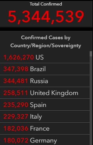 corona cases May 24 2020