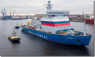 nuclear powered ice breaker Arktika